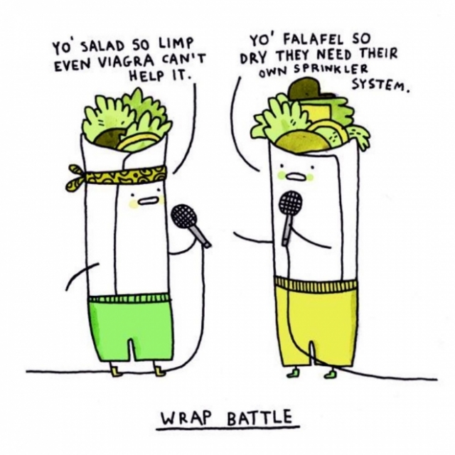wrap salad @gemmacorrel
