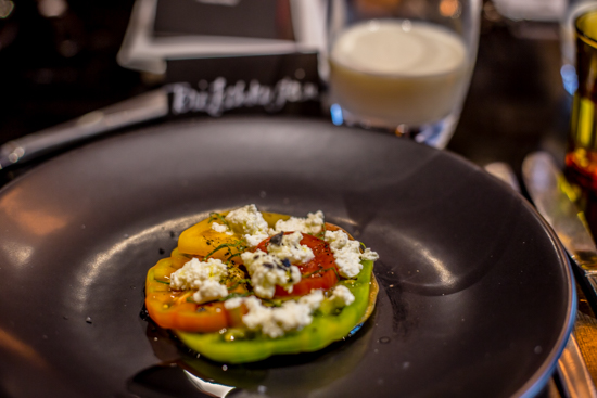 ricotta and heirloom tomato salad